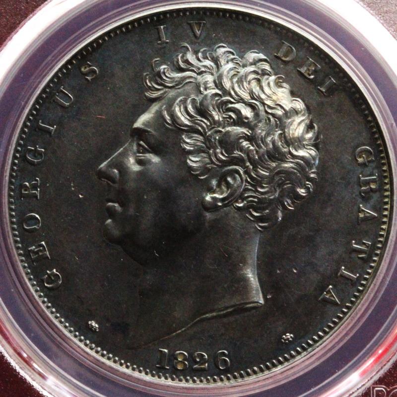 イギリス1826年プルーフ超希少銀...
