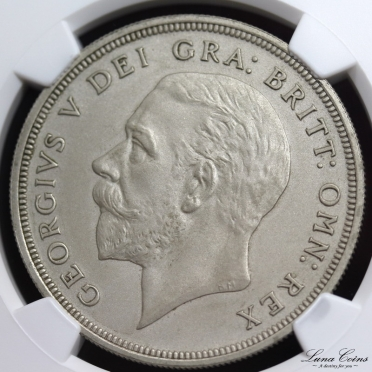 george V 1927 silver matt proof pattern sandblasted crown