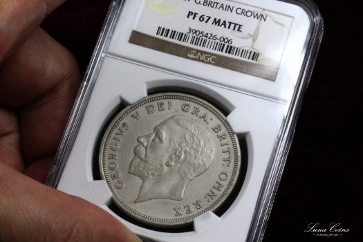 1927 george V crown matt proof PR67MATTE