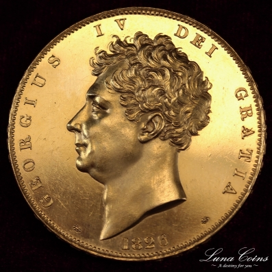 1826 George4 5pound gold proof11