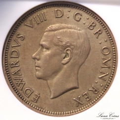edward VIII Florin matt proof obv
