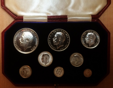 george V proof silver 1911