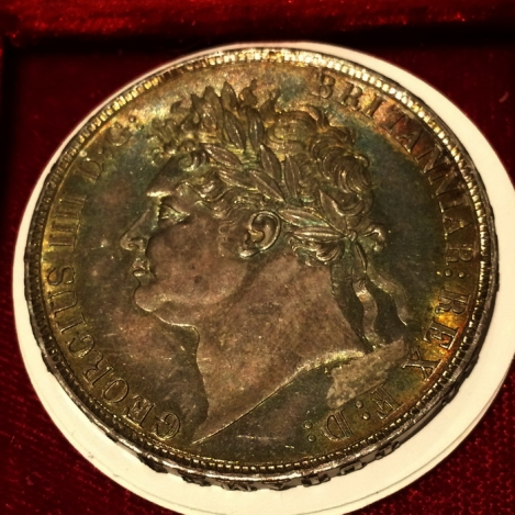 george iii crown silver 1821 secundo