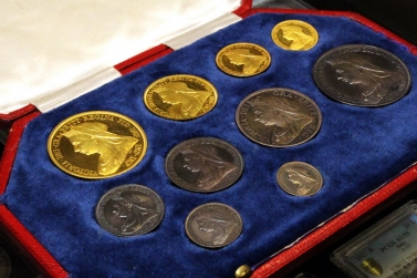 luna coins 1893 great britain proof set gold silver