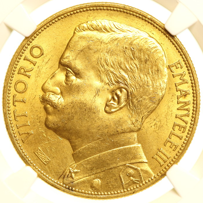 luna-coins italy 100 lire gold obv