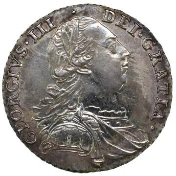 GREAT BRITAIN イギリス 1787年 シリング銀貨 ジョージ3世 Shilling Silver George III